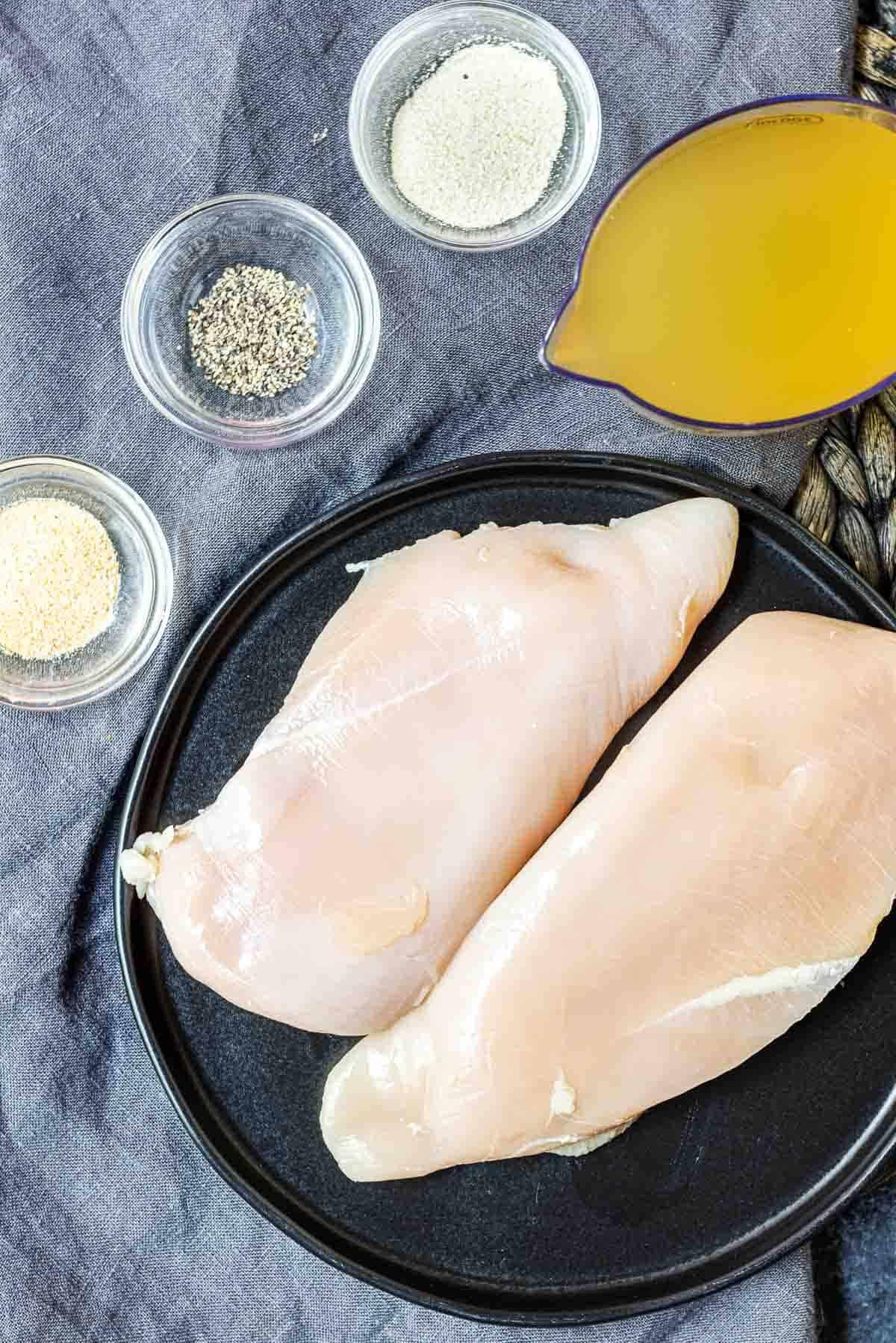 ingredients for make Instant Pot Shredded Chicken
