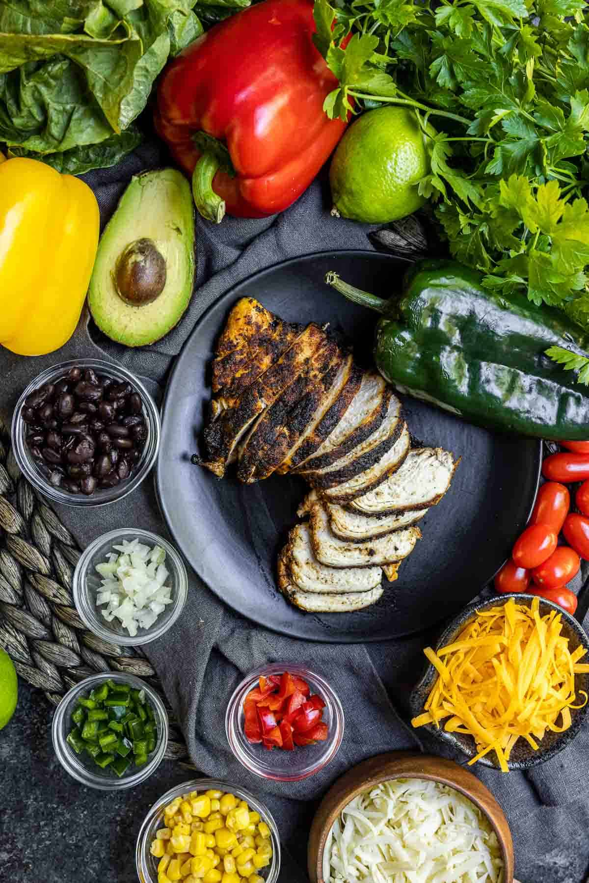 ingredients for a Southwest Salad
