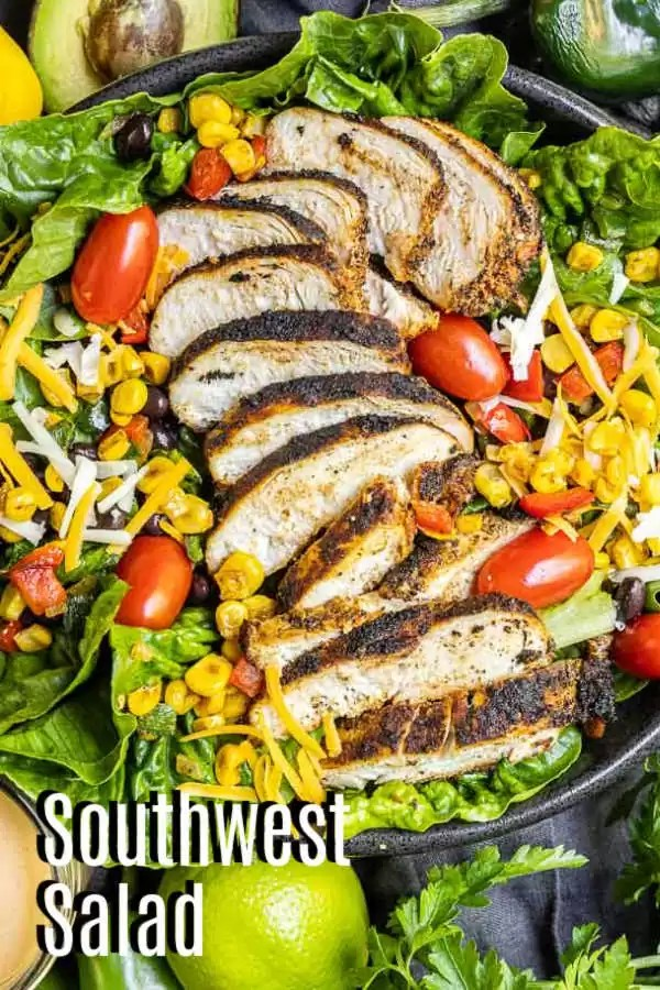 Pinterest image of Southwest Salad with title text