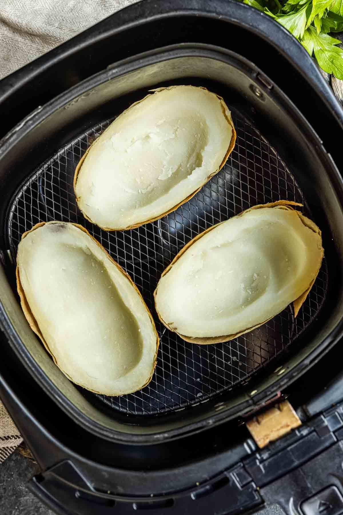 unstuffed Air Fryer Potato Skins