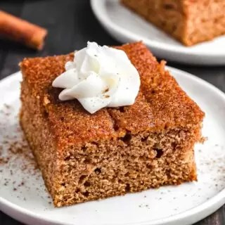 Apple Spice Cake on a white plate