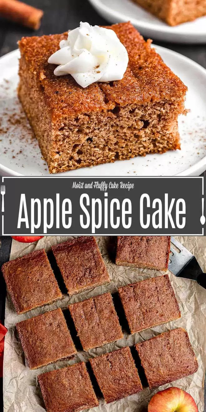 Pinterest image of Apple Spice Cake with title text