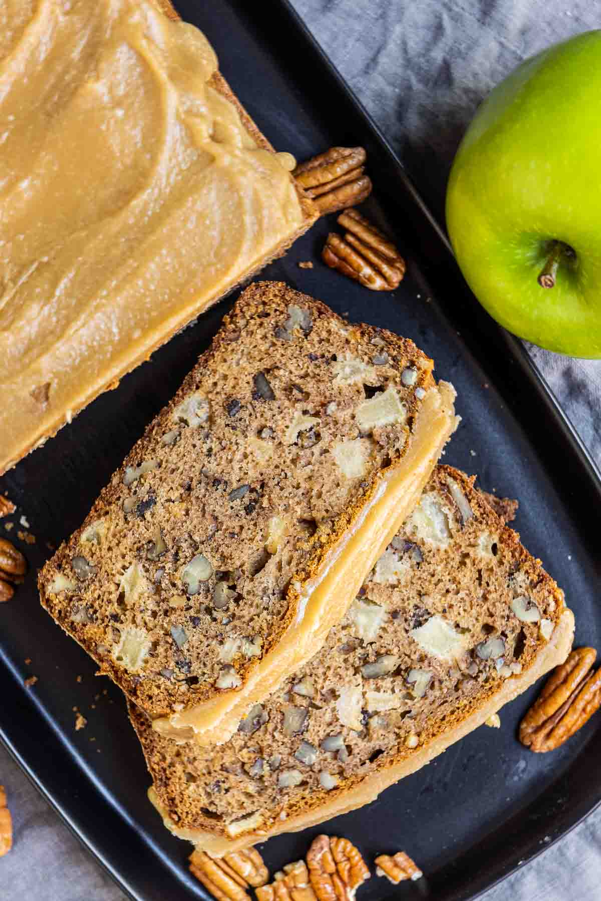 Caramel Apple Bread with pecans