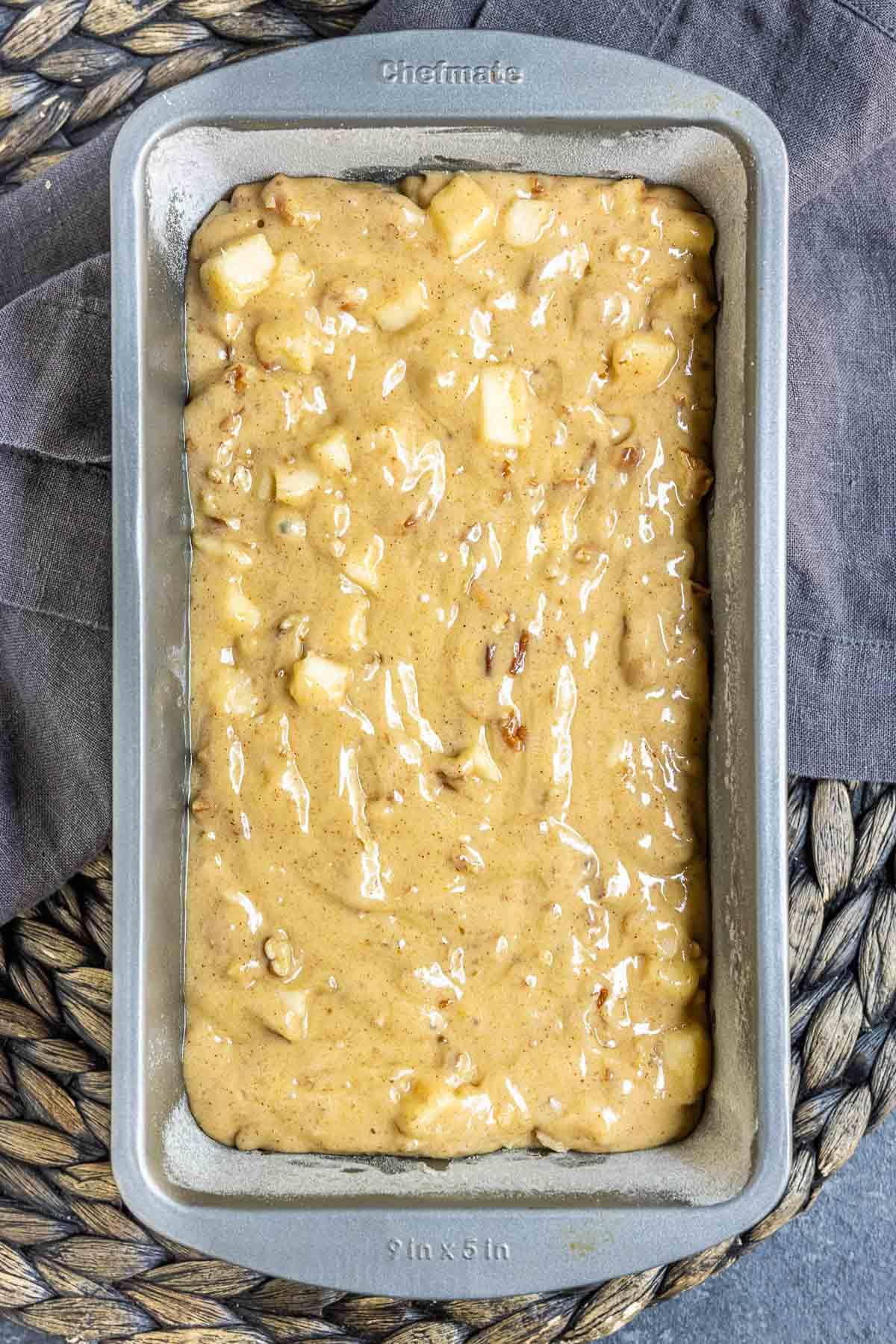 Caramel Apple Bread dough