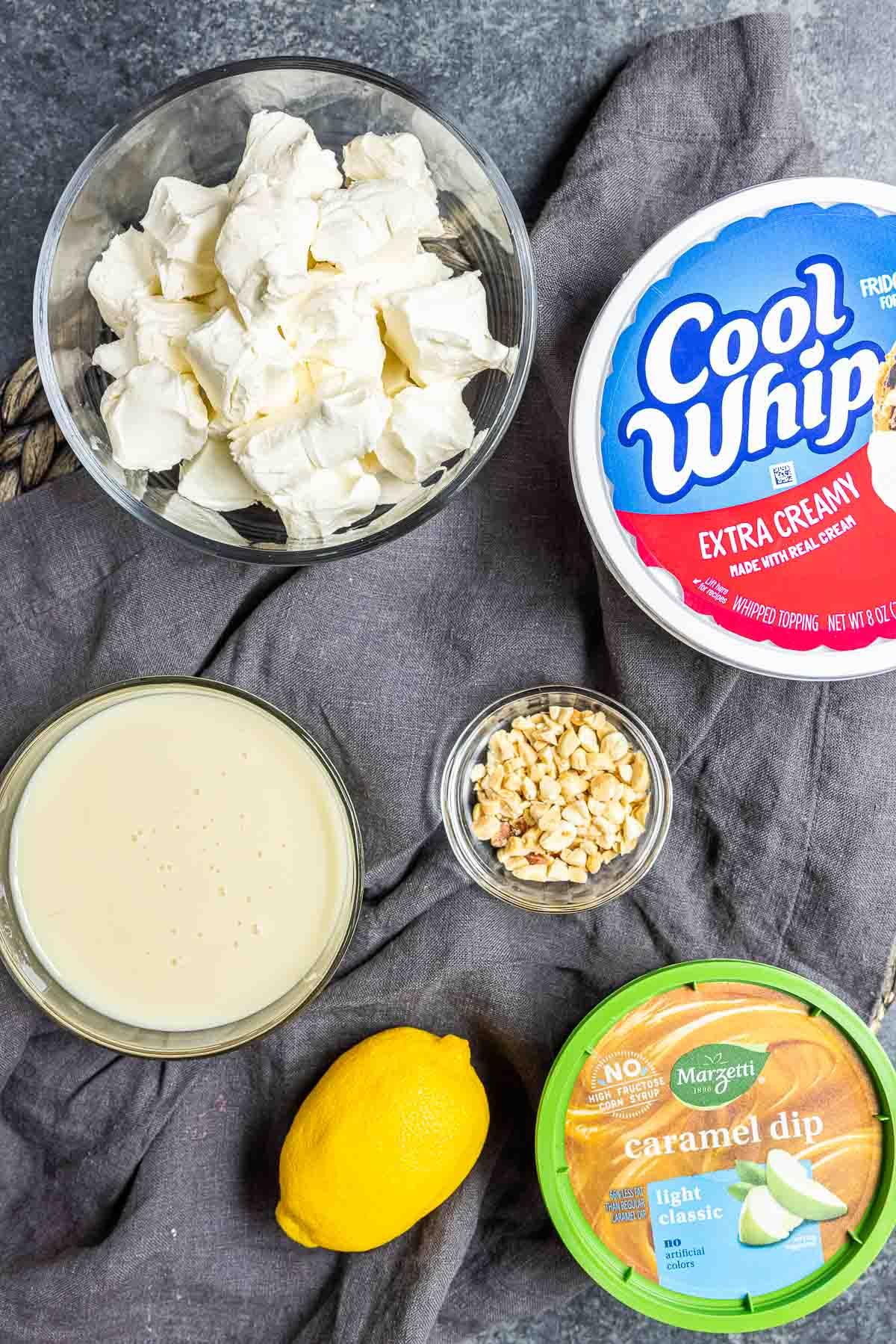 ingredients for Caramel Apple Dip