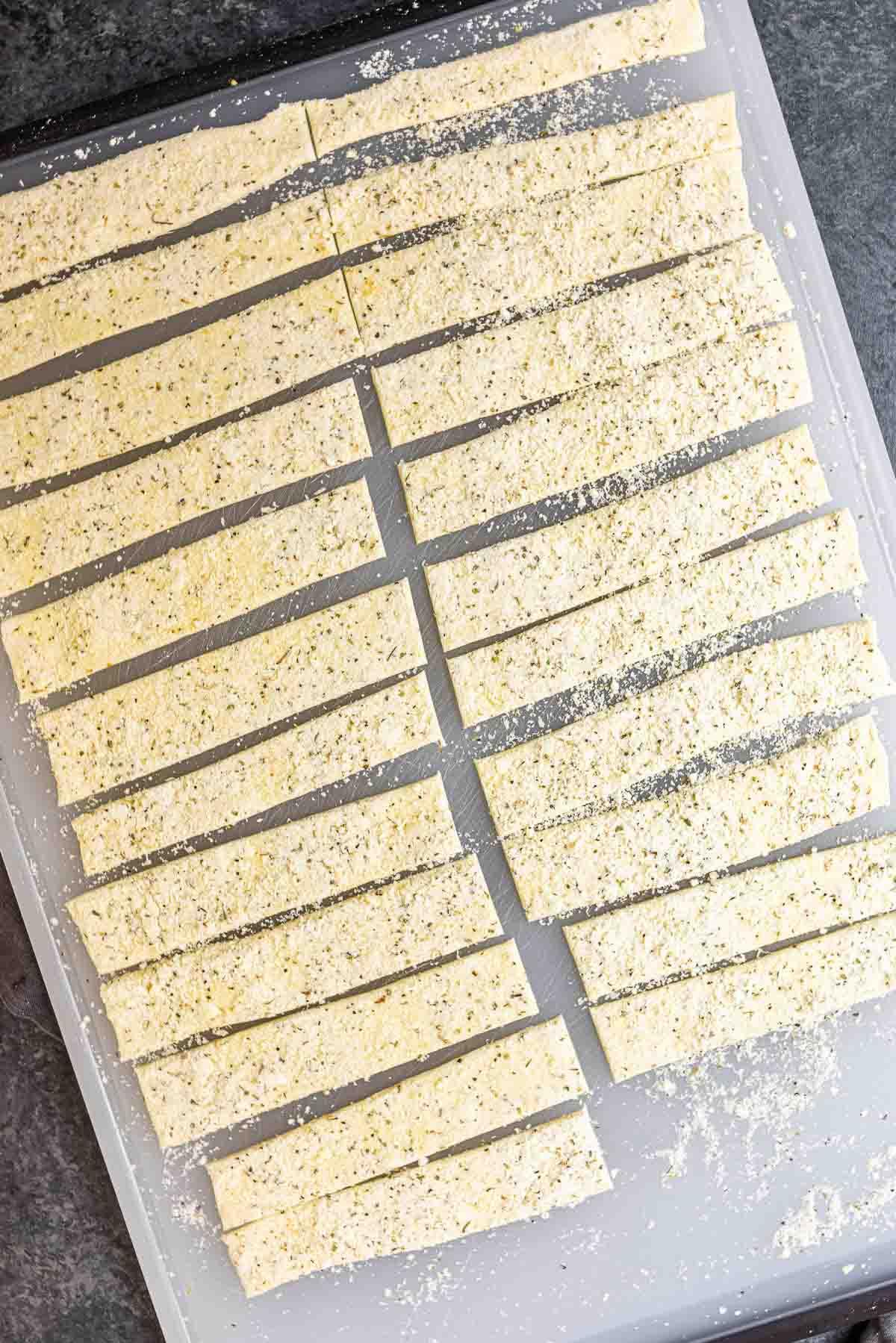 how make cut Cheese Twists dough