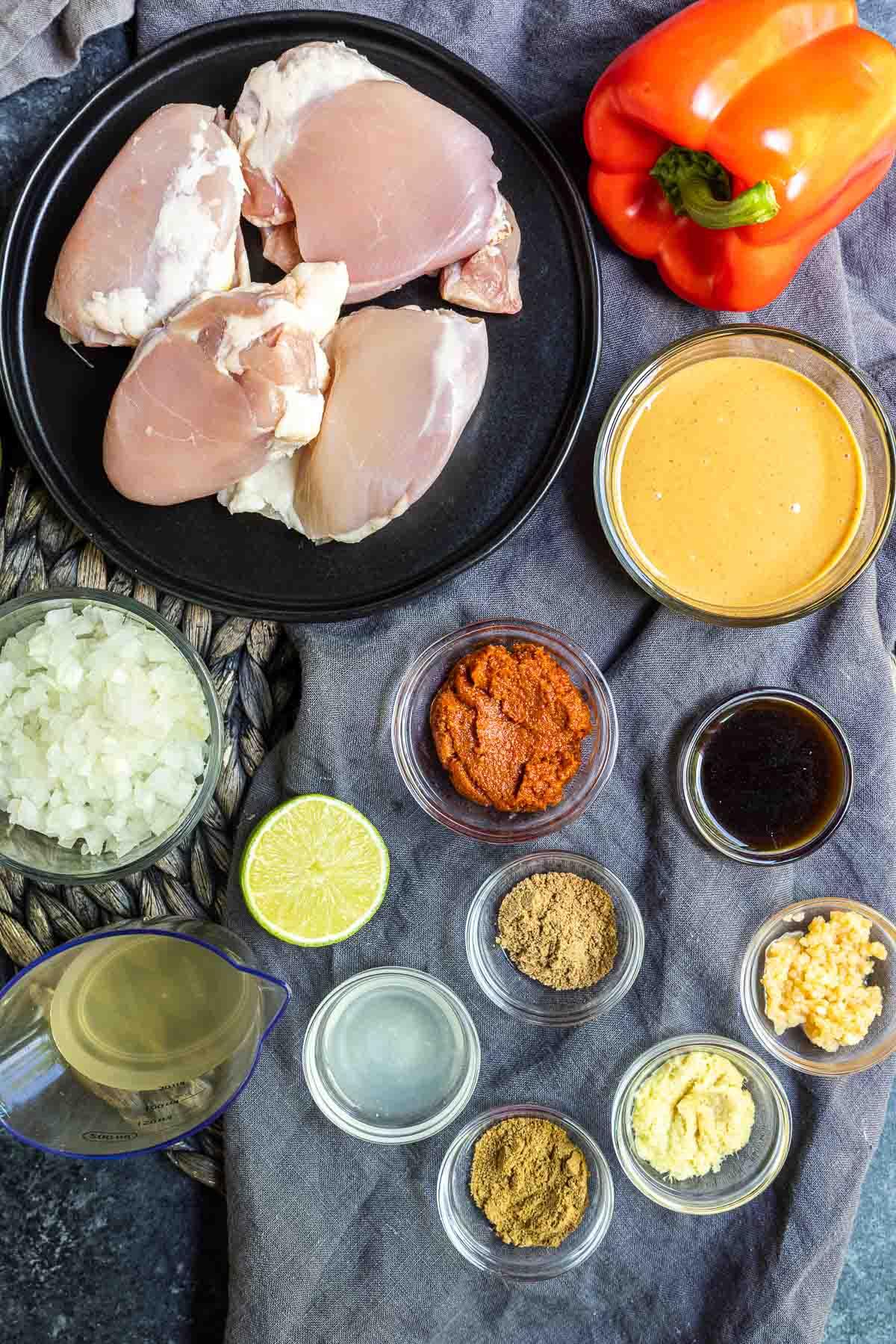 Keto Peanut Butter Chicken ingredients