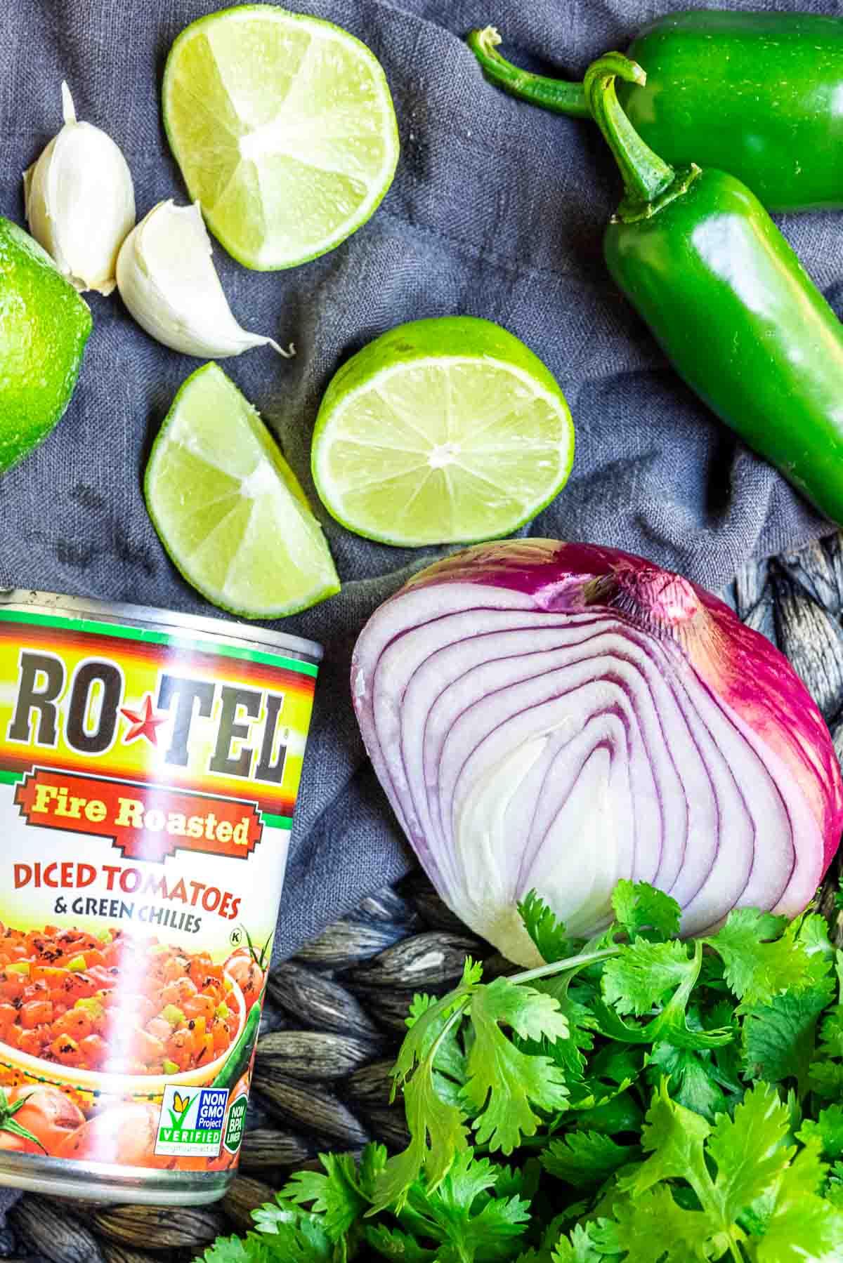 Restaurant Style Salsa ingredients