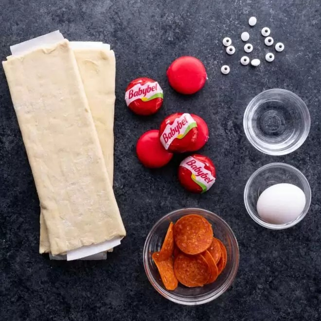 ingredients for Halloween Baked Cheese