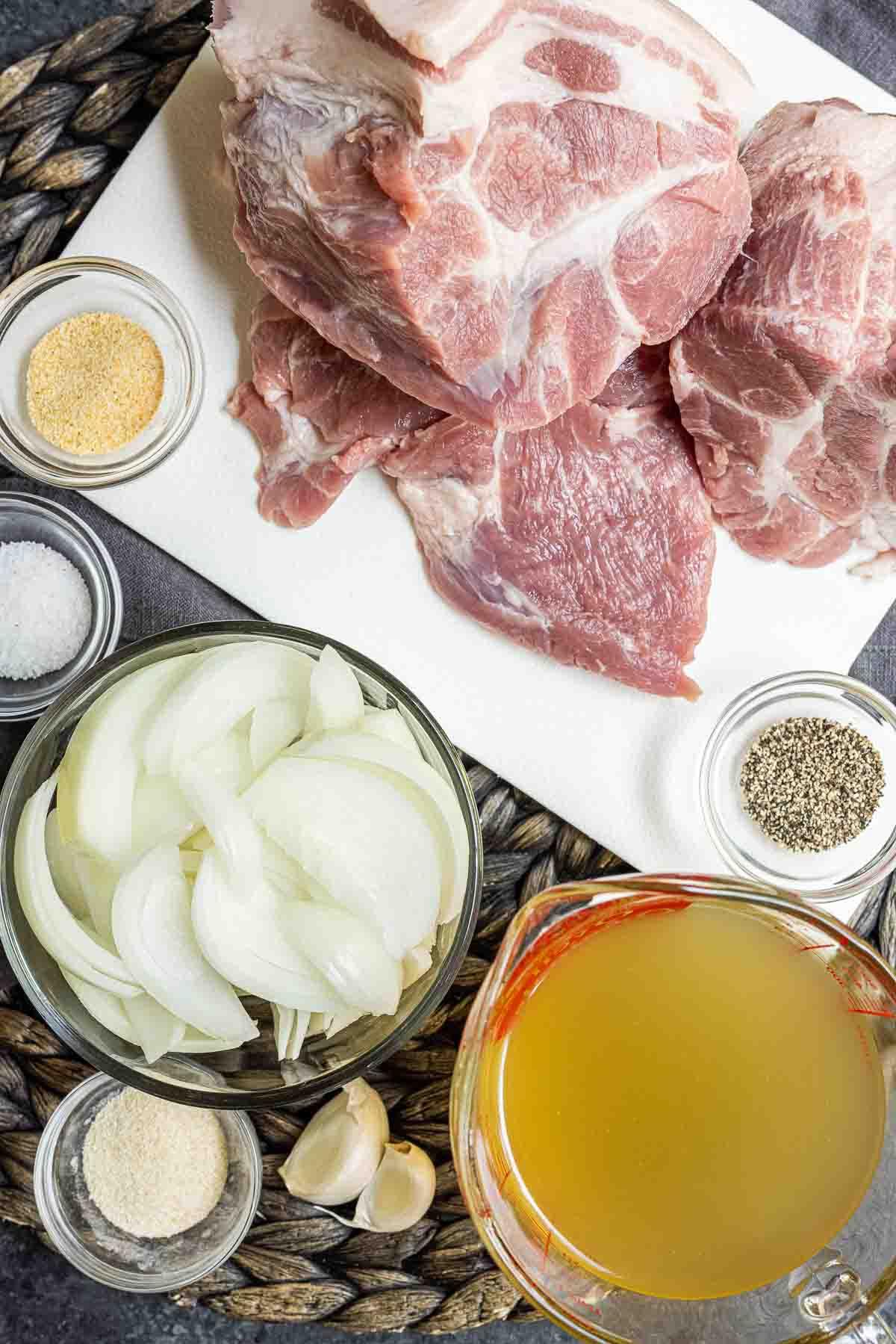 ingredients to make Instant Pot Pork Roast