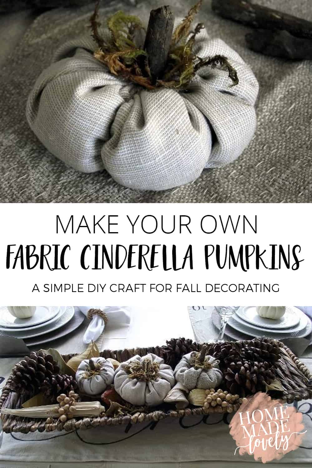 fabric cinderella pumpkins pin