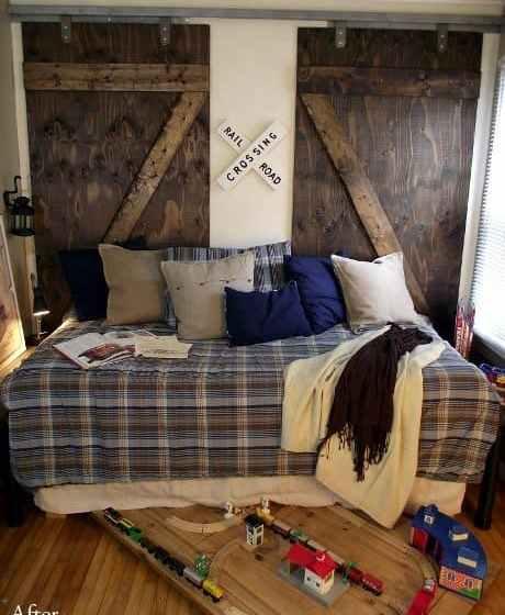 train bedroom barn door