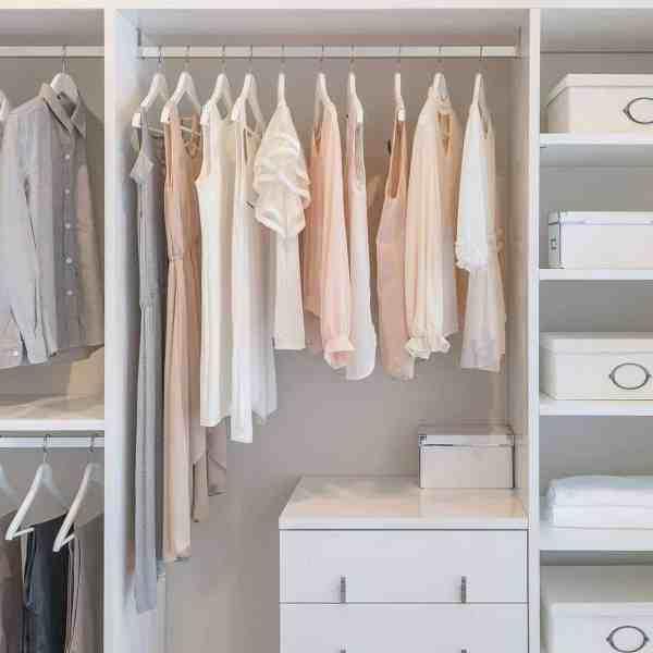 pretty organized feminine closet