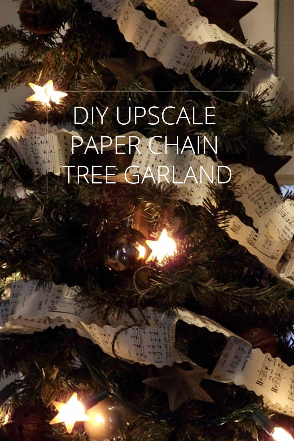 DIY Upscale Paper Chain Tree Garland