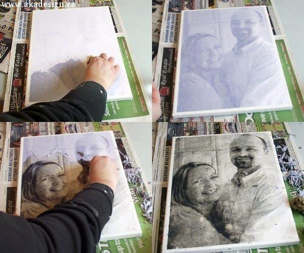 Easy Custom Canvas using Mod Podge Photo Transfer Medium