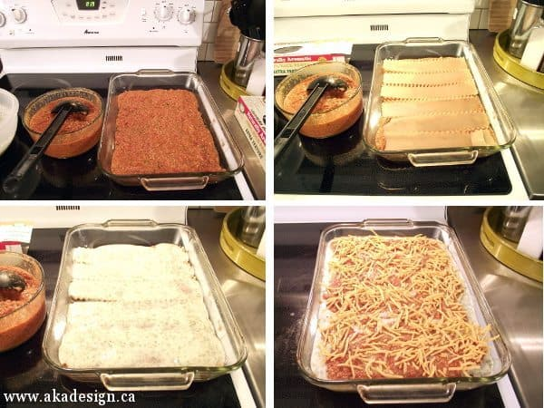 gluten free dairy free lasagna layering