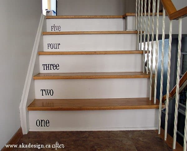 Painted Stairs – Well the Risers, Anyway!