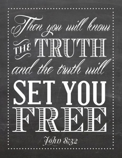 the truth will set you free printable