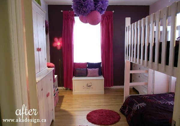pink and purple girls room