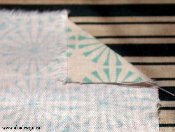 first corner fold