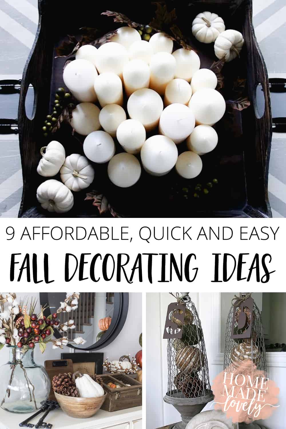 9 affordable quick and easy fall decorating ideas pin