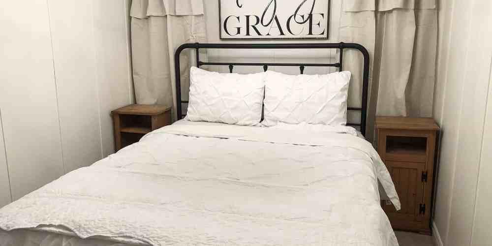 guest bedroom head of bed
