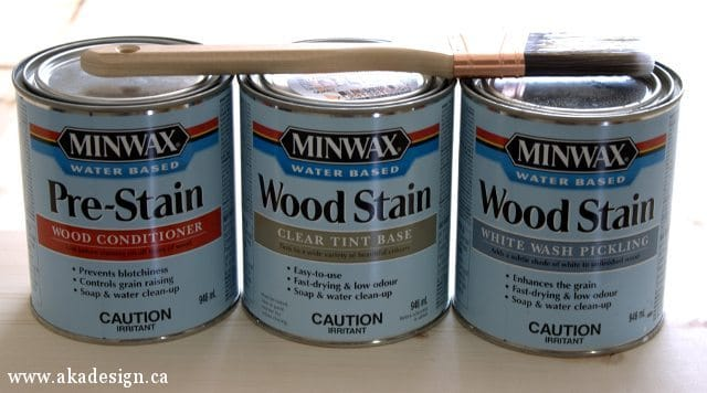 minwax water based conditioner, stain, whitewash pickling