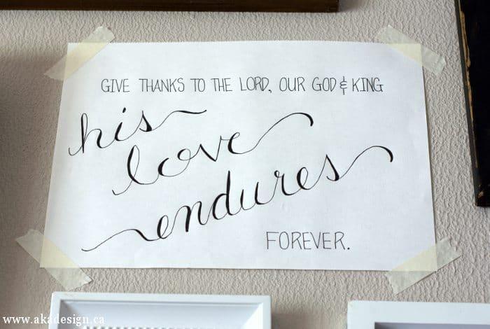 his love endures forever script art 1