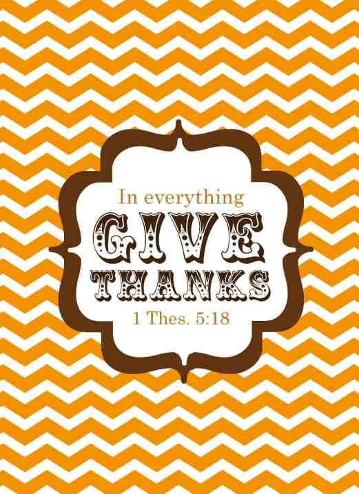 in everything give thanks fall printable