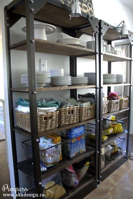 kitchen progress pantry shelves