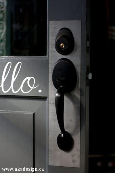 outside of door