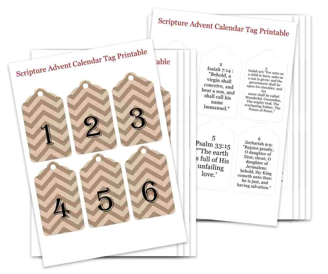 Scripture Advent Calendar Printable Img