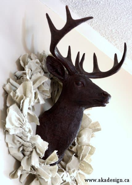 photograph relating to Printable Deer Head Silhouette known as Deer Brain Silhouette Printables - No cost Vacation Printables