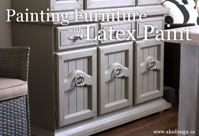 painting furniture with latex paint