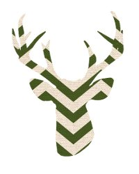 thumbnail deer silhouette dark green chevron
