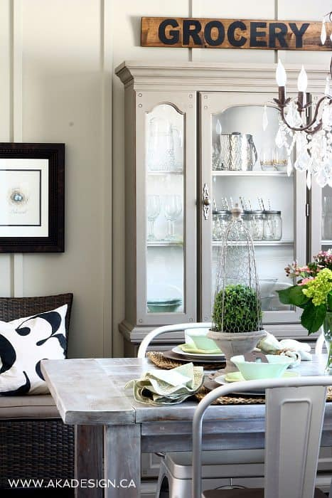 COTTAGE FARMHOUSE DINING ROOM HUTCH
