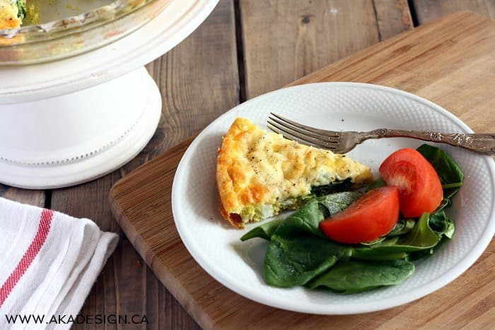 KRAFT Creamy Herb & Garlic Shredded Cheese with a Touch of Philadelphia quiche