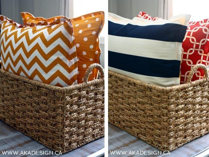 double sided floor pillows | www.akadesign.ca