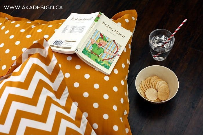 no sew floor pillows | www.akadesign.ca