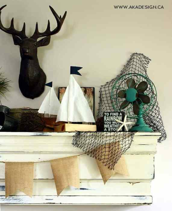 beachy mantel