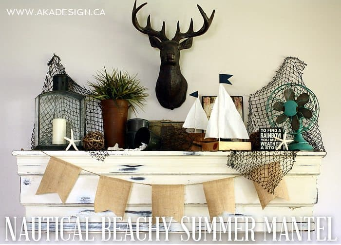 NAUTICAL BEACHY SUMMER MANTEL | WWW.AKADESIGN.CA