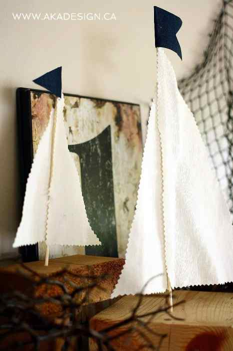 rustic sailboat diy decor
