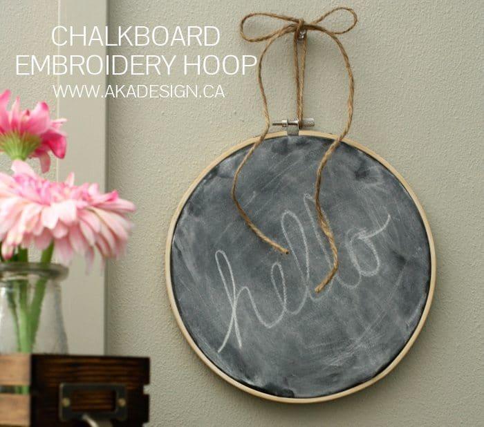 CHALKBOARD EMBROIDERY HOOP DIY