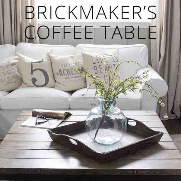Restoration Hardware Inspired DIY Brickmaker's Coffee Table