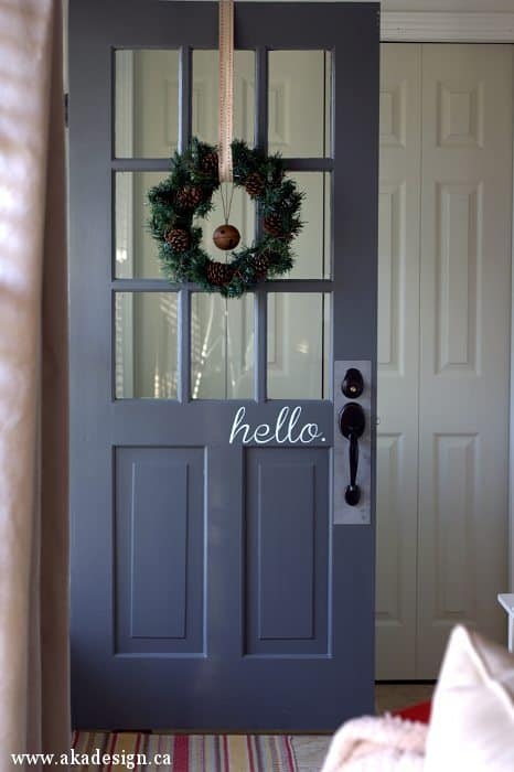 hello vinyl door decal | www.akadesign.ca