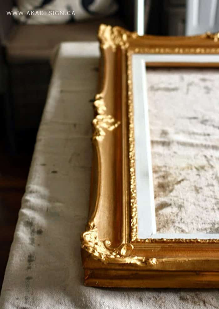 ornate gold frame before