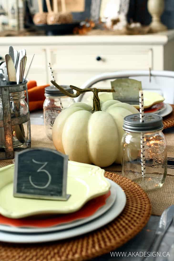 farmhouse fall dining room table
