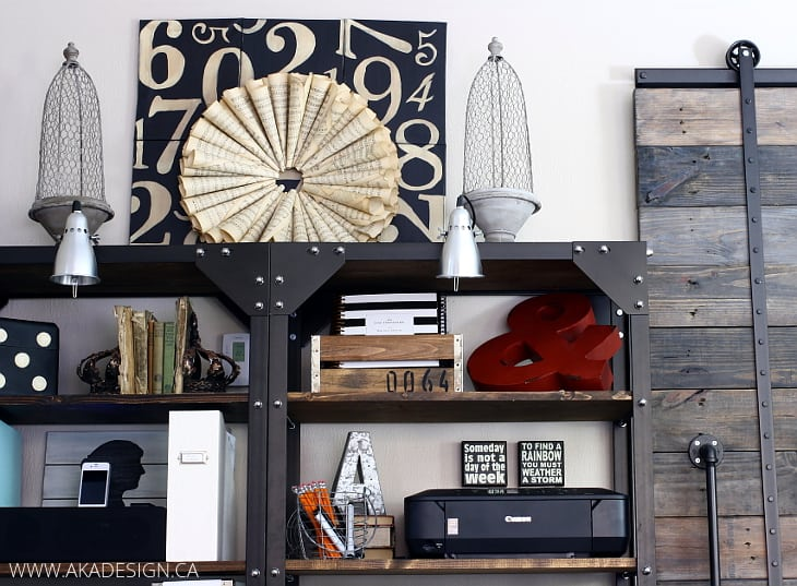How to organize open shelving