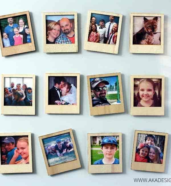 Wooden Polaroid Magnets