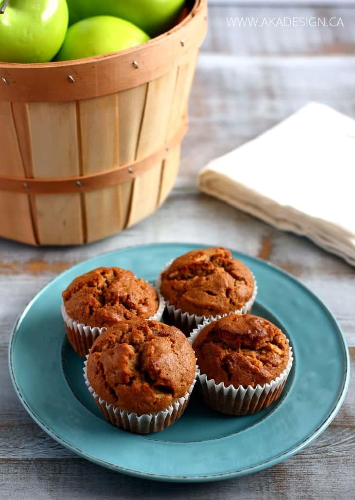 apple cinnamon gluten free muffins